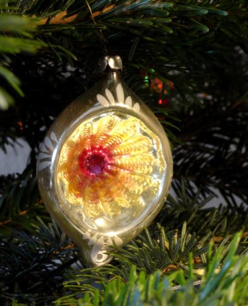 ёлочный шарик с рефлектором СССР 1960-70