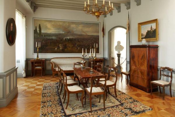 Burg Sooneck, Blick in das Speisezimmer, Foto: GDKE – Ulrich Pfeuffer