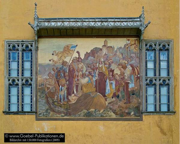der Trierer Erzbischof Werner den neugewählten König Ruprecht empfängt