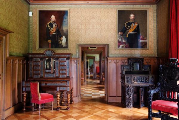 Stolzenfels Castle. Banqueting halls