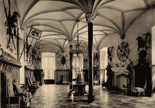 Schloß Stolzenfels Innenanicht Rittersaal