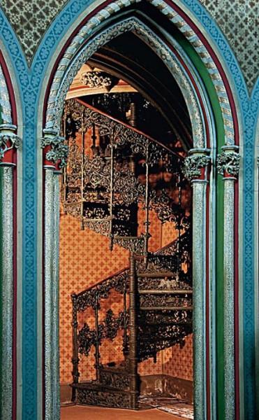 Die Wendeltreppe in der Kapelle von Schloss Stolzenfels