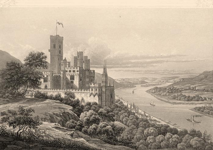 Schloss Stolzenfels_Joseph Halenza_1845