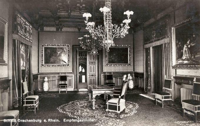 Das ehemalige Empfangszimmer auf Schloss Drachenburg 1910