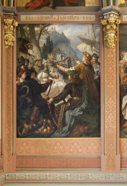 Sängerkrieg auf der Insel Nonnenwerth im Jahre 1338 vor dem englischen König Eduard III