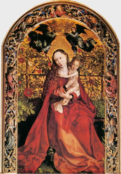 Maria im Rosenhag von Martin Schongauer_