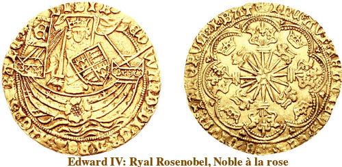Ryal_1467_Rosenobel, Noble à la rose