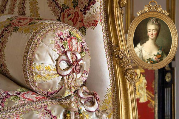 Detail of Madame Du Barry's bed
