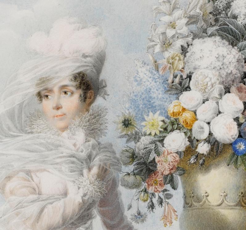 Auguste Garneay - Portrait de l'impératrice Joséphine 1813 - Aquarelle