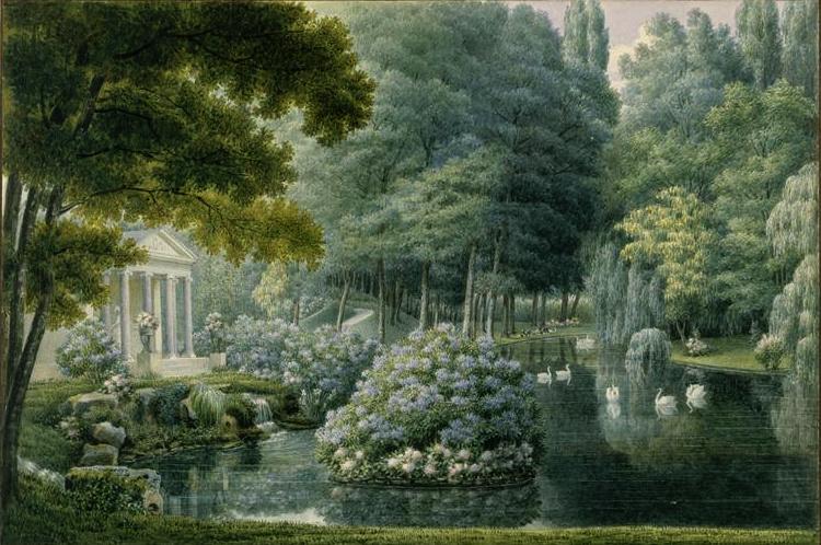 Auguste Garneray_Temple de l'amour_Malmaison_
