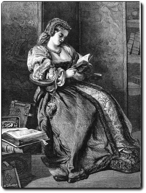 Джейн Грей Lady Jane Grey Print 1886 года