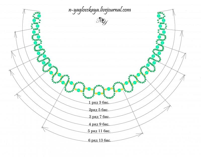 Схема ожерелья огалала