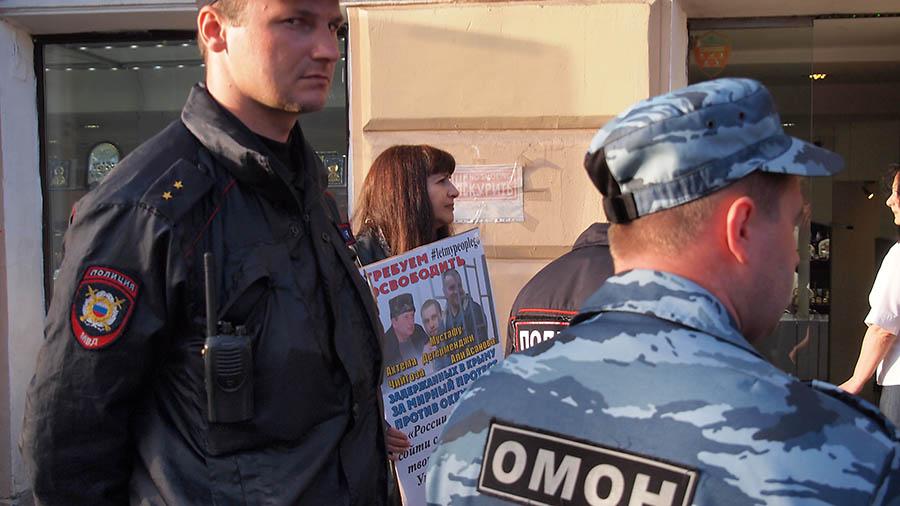 акция на Невском в поддержку Ильми Умерова