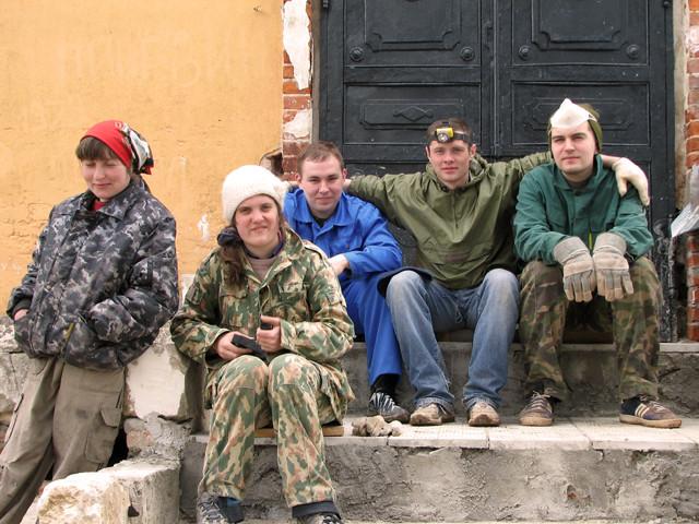 Инна, Ангелина, Сергей, Саша, Миша