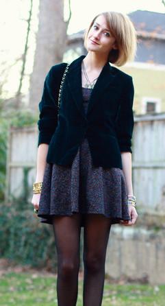 blazer and a dress