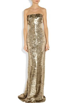 Платья в паетках золотые