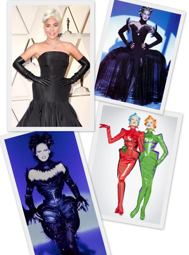 наряд Леди Гага на церемнии вручения Оскара 2019 и образы, созданные Тьерри Мюглером в разные годы