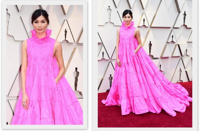 актриса Джемма Чан в наряде от Valentino Haute Couture на церемонии Оскар - 2019