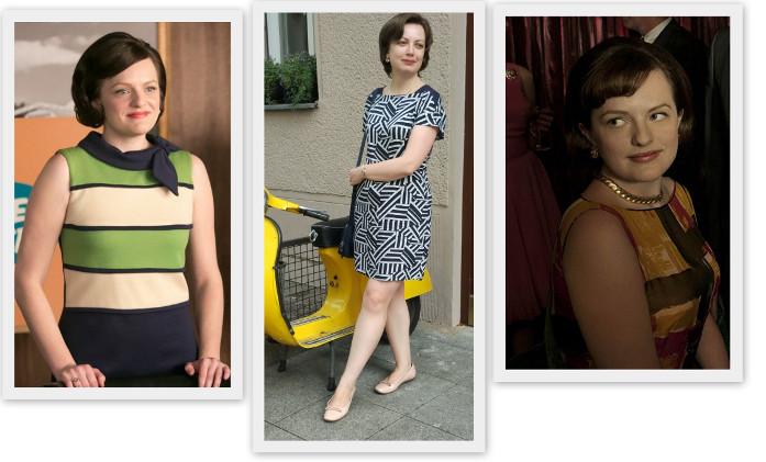 """стильное вдохновение для Юлии мы нашли в образах (и стильной эволюции) одной из моих любимых героинь - Пегги Олсон из сериала """"Безумцы"""""""