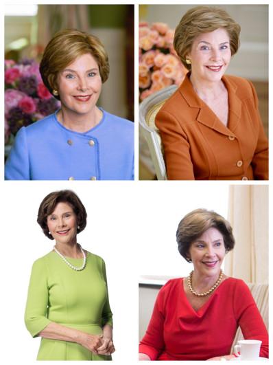 реальная представительница — Лора Буш, первая леди и жена президента от республиканской партии