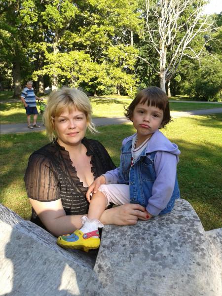 с мишель в парке