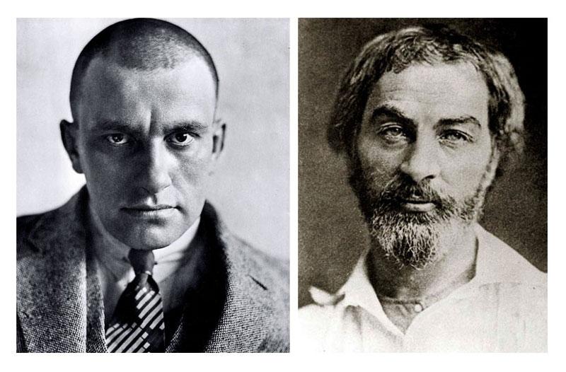 фото В.В.Маяковского и  Уолта Уитмена в молодости