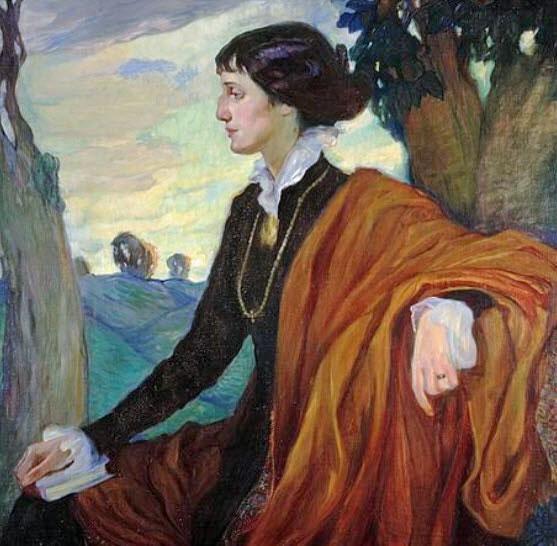 Портрет Анны Андреевны Ахматовой работы Ольги Кардовской, 1914