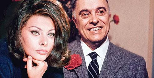 Софи Лорен с мужем Карло Понти