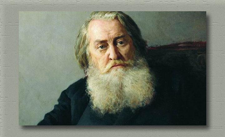 фрагмент портрета  А.Н. Плещеева. 1887 год. Холст, масло ( работы Н.А. Ярошенко)