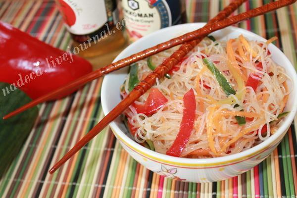 рецепт салатов с фунчозой с фото