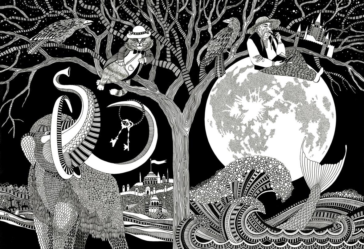 3 Затерянный мир - иллюстрация к обложке литературного сборника Гоголь фэнтези 202 формат А3