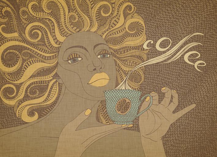 кофе холст