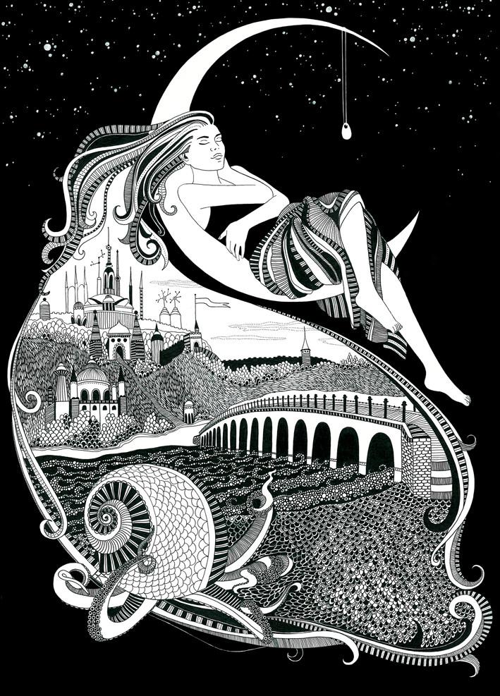 Иллюстрация к сказке Терапiя сновидiнь