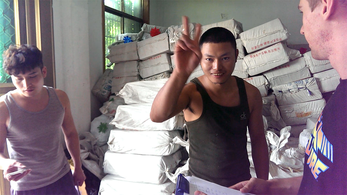 Прием товара на складе в Иу, Китай