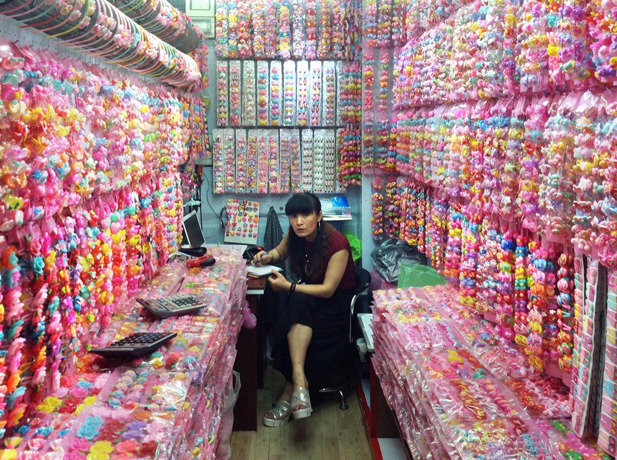 Бижутерия оптом из Китая. Город Иу, рынок Футьен