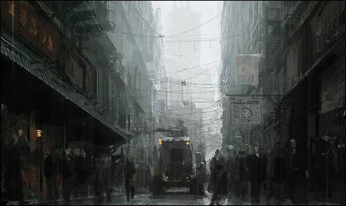 Street scene, copyright Craig Mullins