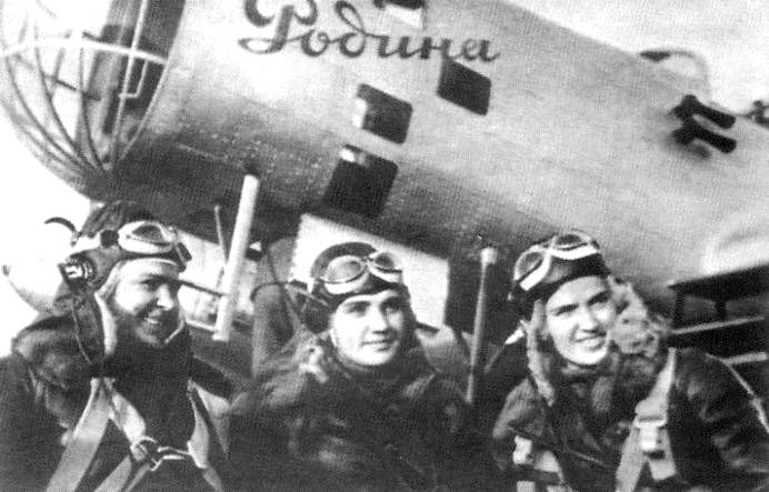 В.Гризодубова, П.Осипенко и М.Раскова