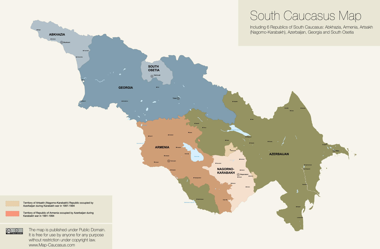 Векторная карта государств южного