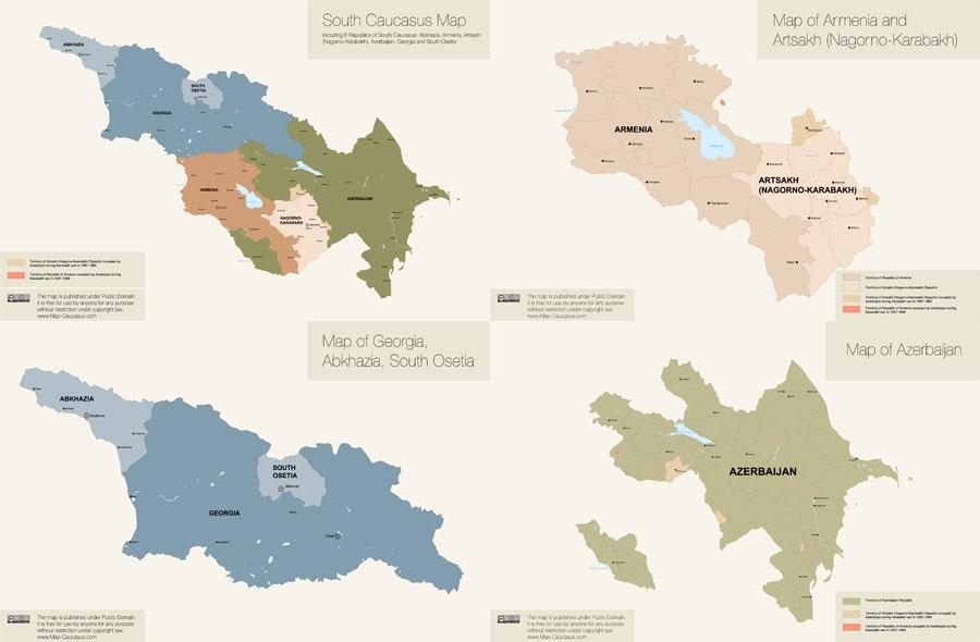 Карта Южного Кавказа