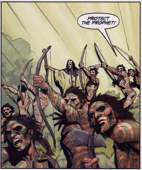 Одни из канонических варваров фэнтези — говардовские пикты. Кстати, хайборийские армилисты у нас тоже есть)).