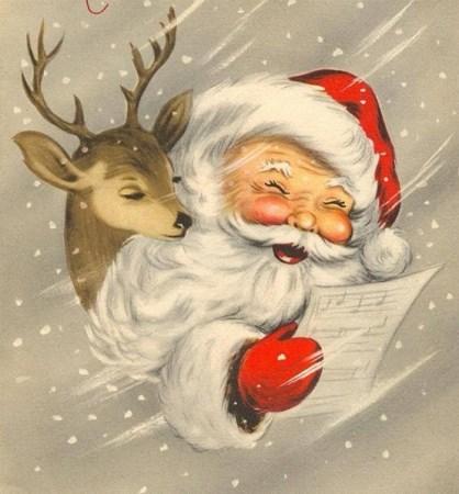 Santa & Reindeer (418 x 450)