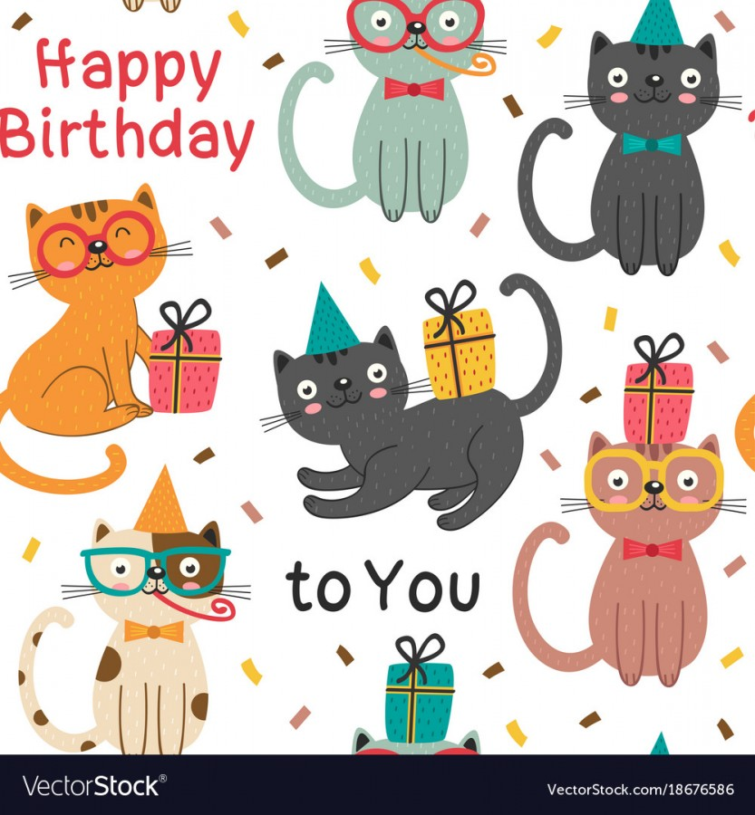 Happy Birthday Cats 5