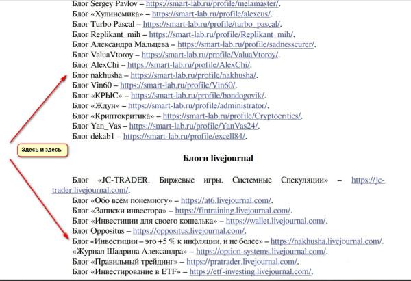 Увидел свой блог в списке