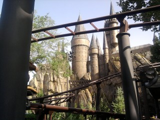 Hogwarts from the Hippogriff Ride