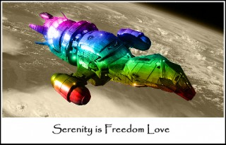 Serenity is Freedom Love