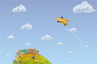 airplane & boy