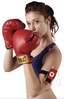 iPod Case on Female Boxer Model