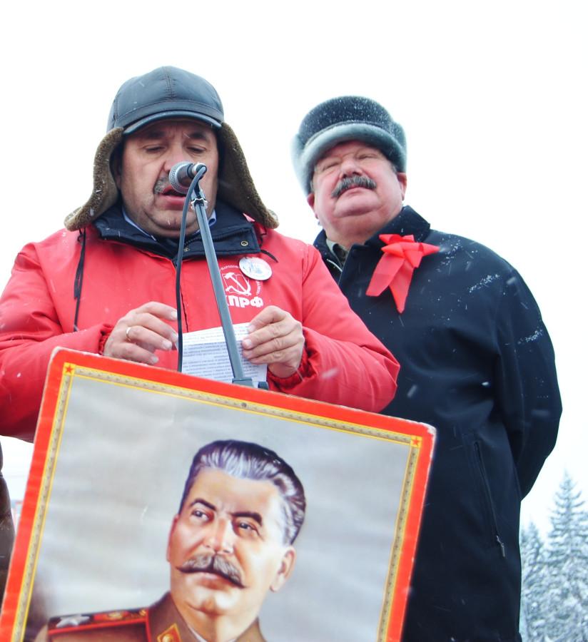 Заполев и Сталин-на митинге