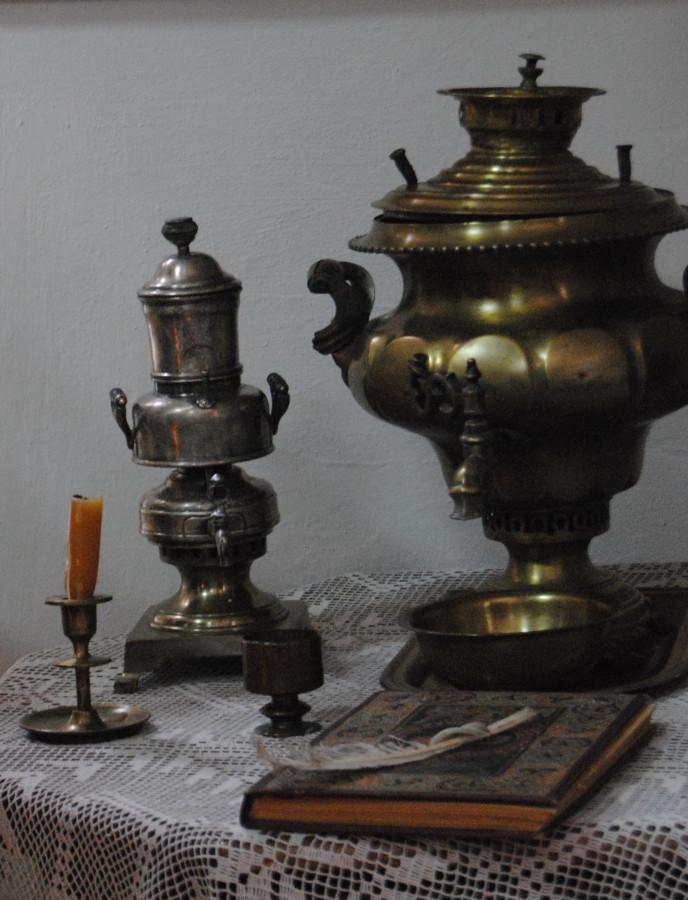Кофеварка и самовар