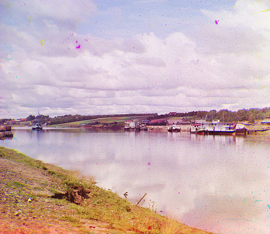 Череповецкая гавань в 1909 году